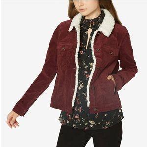 Sanctuary Womens Freedom Fur Collar Jean Jacket